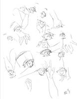 Anime Eye and hand Study by THEJETTYJETSHOW
