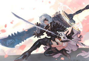 2B Clouds And Sakura Blossom by THEJETTYJETSHOW