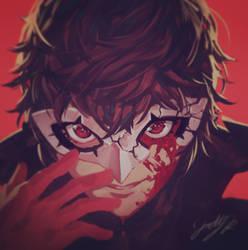 Joker's Broken Mask by THEJETTYJETSHOW