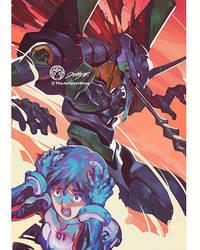 Shinji And Eva By JettyJet by THEJETTYJETSHOW