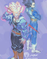 Trunks Vegeta Daily 3 by THEJETTYJETSHOW