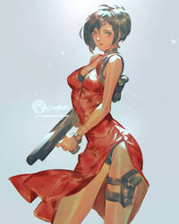 Ada Wong Dailysketch 26 by THEJETTYJETSHOW