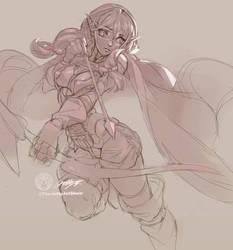 #Dailysketch 28 #Erufu From #GoblinSlayer by THEJETTYJETSHOW