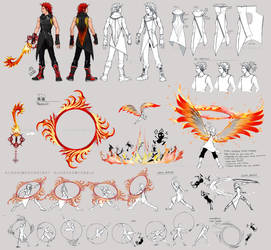 KH3 Axel Costume and Weapon Concepts by Nijuuni