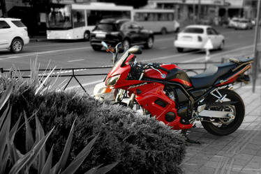 Red Moto by Metallart