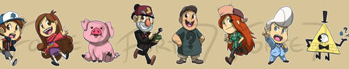 Stickers: Gravity Falls by forte-girl7