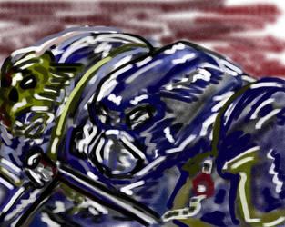 Marine doodle by Sardaukar84