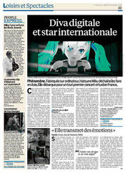 Miku and opera THE END appear in French newspapers by VocaloidMusicBrasil