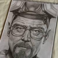 Heisenberg - Breaking Bad  by lukesaundersart