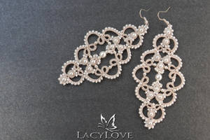 Tatted earrings MAGDA by LacyLoveHandmade