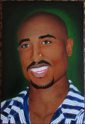 2pac (oil on canvas, 40*60) by Zahorbenskyi