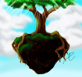 Ascending the Tree to Heaven by Opal-Heart126