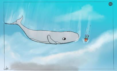 Inktober Day 12 - Whale by Jonas72