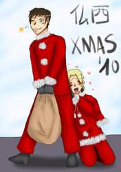 Happy Christmas 2010-FrSp by Miruchan