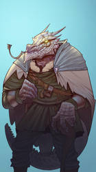 white Dragonborn by junior0rulezd00d