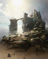 Rocky island by e-will