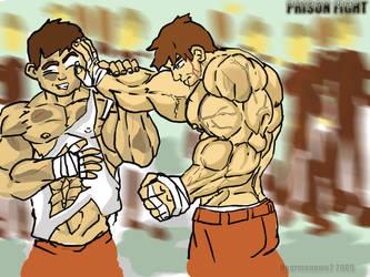 A Prison Fight... by hearmenowu2