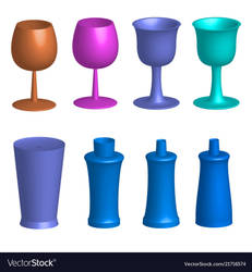 Wine Glass Vector by Mubashwir