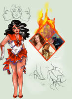 Sailor Fire Opal Devil by EzekielMonroe