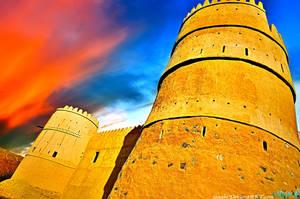 Fujairah castle by izaabi