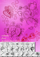 Valentine floral brush by designersbrush