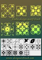 Arabric design motif brush by designersbrush
