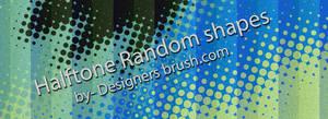 Halftone random shapes brushes by designersbrush