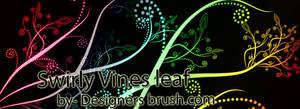 Swirly Vines leaf Photoshop brushes by designersbrush