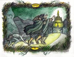 Minas Morgul by marycoxillustration