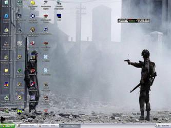 Crowded Desktop by strout