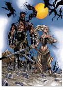 Khal Drogo and Khalessi by CjB-Productions