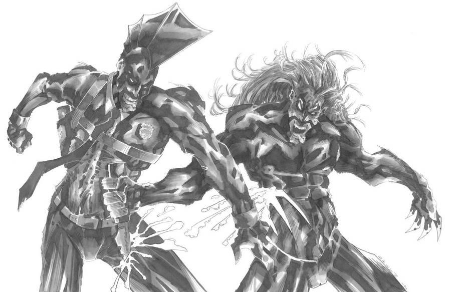The Savage Dragon vs. Lobo by CjB-Productions