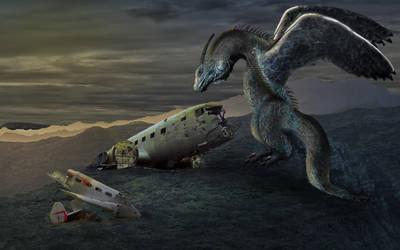 Terror Dragon by DeBeerG