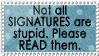 Read signatures by MyStamps