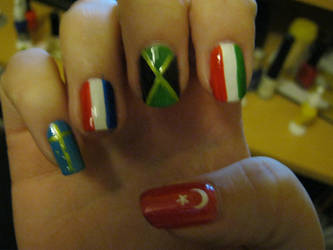 more flags of the world nail art by VIXEN270991