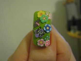 garden nail art by VIXEN270991