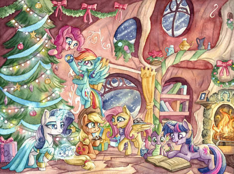 A Pony Kind of Christmas by The-Wizard-of-Art