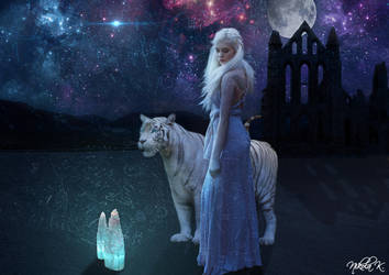 The Power of The Queen and White Tiger by Nikola096