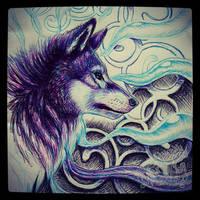 Spirit Wolf by ArkyiVolg