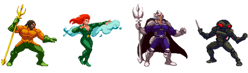 Aquaman characters by Countgate