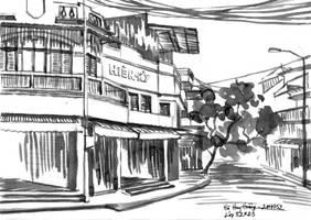 Sketch: Lan Ong Street 2 by splendidriver