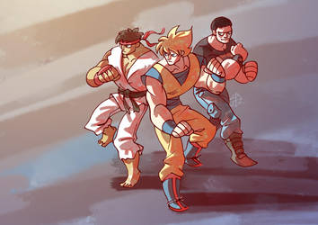 Manly-trio by splendidriver