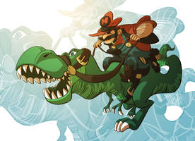 Cowboy Mario by splendidriver