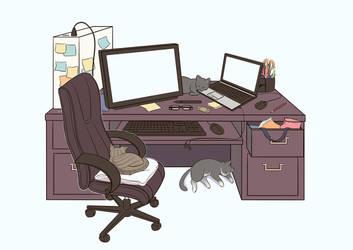 My Work Desk by ButterLux