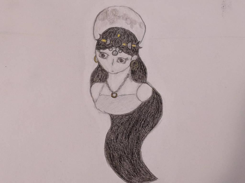 Moon goddess by Naturevulpex