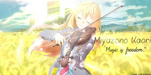 Shigatsu wa Kimi no Uso- Music is Freedom by dejaaaaaaa