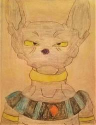 Beerus drawing by Bigw-Gamer-Dude