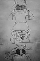 Baxter the cat: dirty eyes by Bigw-Gamer-Dude