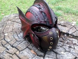 Vampire Combat Helm - Front by Cade2187