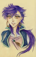 Teenage Sinbad Portrait by Khallandra